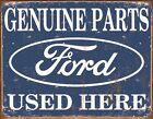 Large 'Genuine Ford Parts' Wall Plaque. Sign,  great for Bar's Man Caves etc