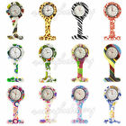 Flower Silicone Nurse Watch Brooch Tunic Fob Watch With Battery Doctor Medical