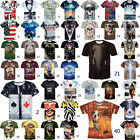 Fashion Rhinoceros Mans 3D Pattern Thin Soft T-Shirt Polyester Trip Casual Tops