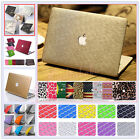 "2in1 Silk Leather Coated/ Marble Quicksand Matte Case for Pro 15""A1286 w/ CD-Rom"