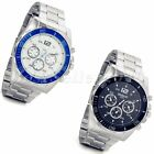 Casual Men Watches Digital Dial Rotatable Case Stainless Steel Quartz WristWatch