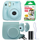 Fuji Instax Mini 8 Fujifilm Instant Film Camera All Colors+ Case & 20 Film Sheet