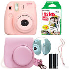 Fuji Instax Mini 8 Fujifilm Instant Film Camera All Colors+ Case &amp; 20 Film Sheet <br/> Mini 8 Grape Raspberry Blue Yellow Hot Pink Black White