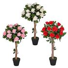 Artificial Potted Rose Tree Plant Red Pink, White Wedding Engagement Decoration