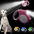 5M Retractable Dog Leads with Light Night Safety Extendable Puppy Walking Leash