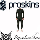PROSKINS BLACK ONE PIECE MOTORCYCLE MOTORBIKE COMPRESSION PERFORMANCE BASE LAYER