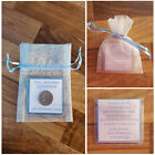 Personalised Lucky Sixpence Wedding Favour Bride Groom Flower Girl Bridesmaid