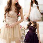 AU SELLER Sexy Womens Girls Formal Cocktail Bridesmaid Dance Mini Dress dr012