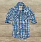 HOLLISTER  MEN`S SHIRT PLAID TWILL PELICAN POINT NEW SIZE L,  by Abercrombie