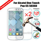 2Pcs 9H Real Premium Tempered Glass Screen Protector Guard Film For Alcatel Cell