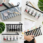 ICONIC Clear Makeup Pouch Cosmetic Pencil Case Brush Pouch Organizer Travel Bag
