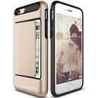 Card Pocket Wallet ShockProof Hybrid Armor Case Cover For Apple iPhone & Samsung