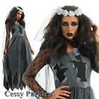 Graveyard Bride Corpse Zombie Horror Fancy Dress Party Halloween Ghost Costume