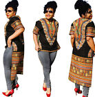 African Print Women Tops Dashiki Dress Boho Hippie Gypsy Party Kaftan Shirt Tops
