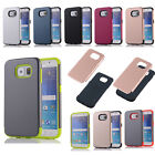 New Hybrid Rubber Heavy Duty Shockproof Case Cover For iPhone Samsung Huawei LG