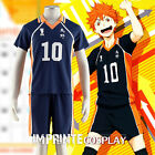 Haikyu!! Karasuno High No.10 Shoyo Hinata Uniform Cosplay Costume Full Set