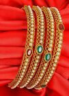314 Indian Bangles Jewelry Bridal Gold Plated Bollywood Fashion Designer