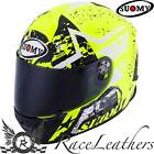 SUOMY SR SPORT STARS YELLO FLUO FULL FACE MOTORCYCLE MOTORBIKE HELMET