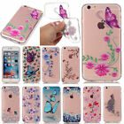 Fashion Pattern Slim Clear Soft Silicone TPU Rubber Gel Back Case For Phones