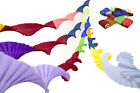 4 SUPERIOR THICKER CREPE PAPER RETRO VINTAGE STYLE CHRISTMAS GARLANDS DARK MIX