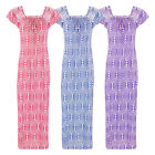 NEW LADIES 100% COTTON PRINTED NIGHTIE WOMENS LONG NIGHTDRESS LOUNGER 8-16