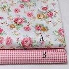 50cm*160CM Flower 100%cotton fabric Quilting Quilt Bedding Sewing DIY19