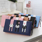 Women Leather Clutch Wallet Long Pu Purse Coin Card Hold Handbag