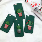 3D Cactus Flowerpot Matte TPU Frame Back Cover Case for iPhone 5/5S/6/6S Plus