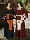 Medieval Maiden Dress Cotton Noble Clothing Costume Handmade Countess