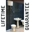 Traditional Victorian High Level Toilet + Basin Set Bathroom Suite WC +  Sink