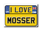 SOUVENIR UK - ENGLAND FRIDGE MAGNET UNITED KINGDOM I LOVE MOSSER (CUMBRIA)