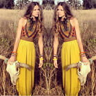 New Women's Sexy Boho Long Maxi Dress Ladies Vintage Summer Beach Party Floral