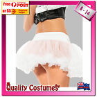 Womens Soft Puffy Ruffled White Tulle Tutu Petticoat Costume Accessories 8-14