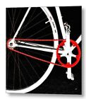 Bike In Black White And Red No 2 Fine Art Print on Metal or Acrylic