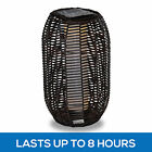 Outdoor PE Wicker Solar Floor Lamp Beacon Lighting Garden Walkway Path Light
