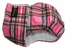 FEMALE DOG WATERPROOF DOG NAPPY / DIAPER  / URINE INCONTINENCE - PINK TARTAN