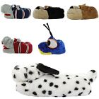 WOMENS NOVELTY FUNNY CUTE HOUND HIPPO DALMATION DOG SLIPPERS GIFT SLIPPERS SIZE