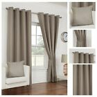 Waffle Eyelet/Ring Top Lined Curtain Pairs By Hamilton McBride - 7 Great Colours