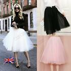 6 Layer Tulle Skirt Vintage 50s Rockabilly Tutu Petticoat Ball Gown Skater Dress