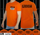 Stag Do Prison Inmate T-shirt Jail Tshirt Top Costume Groom Best Man Usher Funny