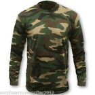 MENS LONG SLEEVE T-SHIRT S-5XL DPM CAMO BASE LAYER TOP SHOOTING HUNTING FISHING
