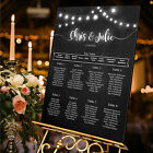 Personalised Wedding Table Seating Plan-Festoon Lights-Chalkboard-Blackboard