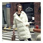 Middle Long Down Coat Woman Casual Coat   white