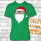 RETRO SANTA WITH GLASSES TSHIRT -FUNNY CHRISTMAS PRESENT - STOCKING FILLER GIFT