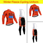 Hot Sale Mens Fleece Bike Cycling Outfits Jersey Shirt Bib Pants Tights Pad Kits