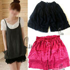 AU SELLER Layered Lace Mini Skirt Safety Shorts Pants petticoat underskirt dr002