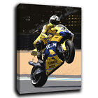 Valentino Rossi yellow yamaha Moto GP Canvas Art Print Various Sizes