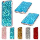Ultra-Thin Rubber Bling Glitter Soft TPU Back Cover Case For iPhone 6 6S Plus