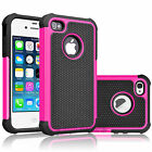 Armor Impact Defender Shockproof PC Hard Case Cover For Apple iPhone 4 4S 4G