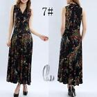 AU SELLER 50'S Vintage Sexy Floral  V-Neck Sleeveless Dress dr141-7